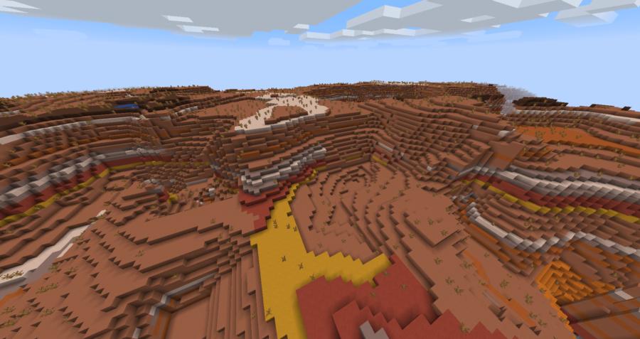 Minecraft Modified Badlands Plateau Biome.