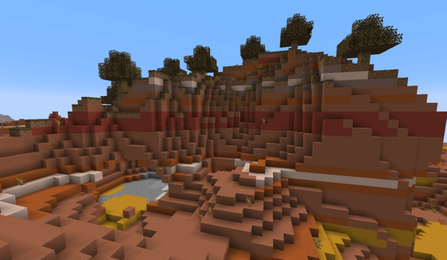Minecraft Modified Wooded Badlands Plateau Biome.