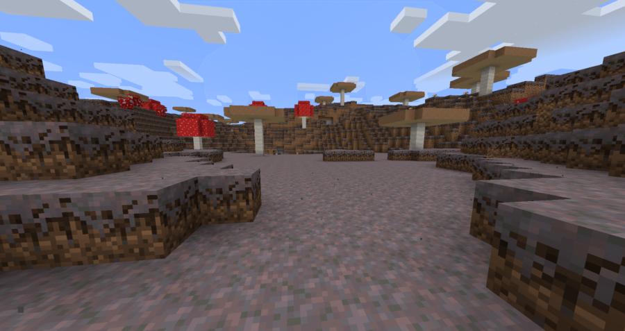 Minecraft Mushroom Field Shore Biome.