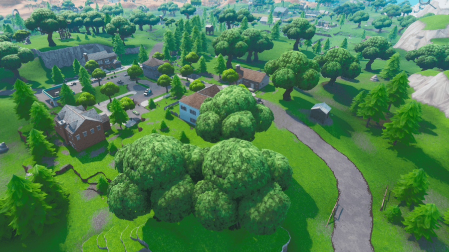 The Salty Spring location from the older chapters of Fortnite