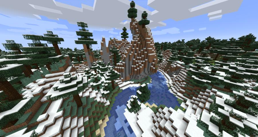 Minecraft Snowy Taiga Mountain Biome.