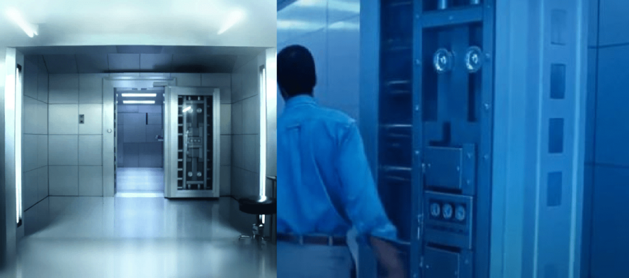 Comparison between doors in Fortnite and Terminator.