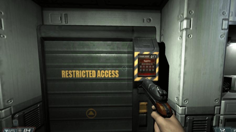 A Doom 3 lock pad.