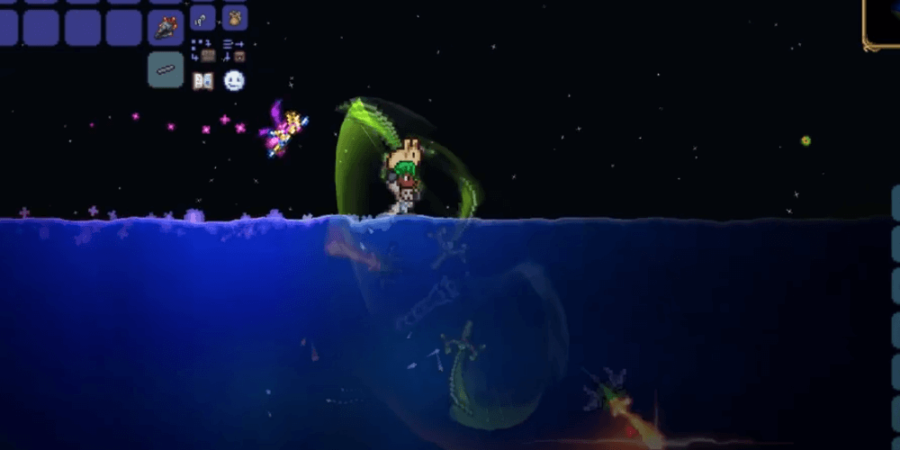 Screenshot of Terrspark boots in use.