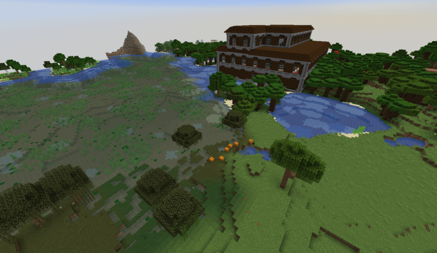 A screenshot of a mansion near spawn.