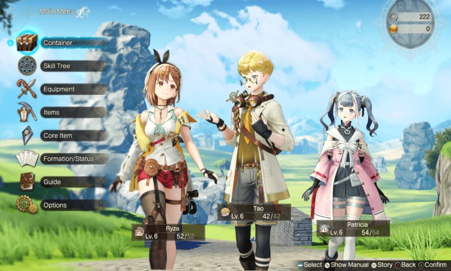 Atelier Ryza 2 Synthesis Guide menu image