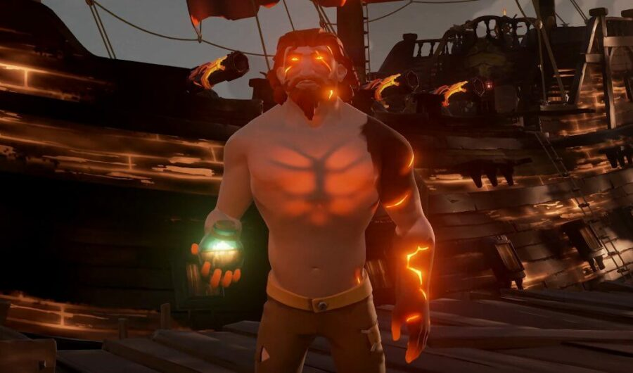 A screenshot of the Ashen Curse in Sea of Thieves.