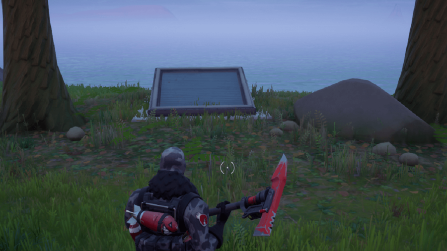 A screenshot from Fortnite showing where the Hidden Bunker is