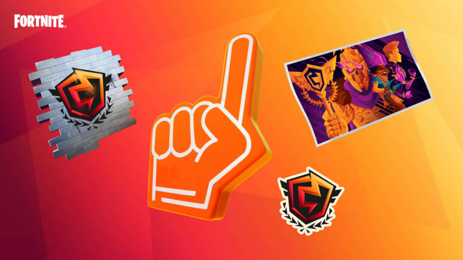 A picture showing off the Twitch Drops cosmetic goodies you can earn from watching the FNCS stream on Twitch