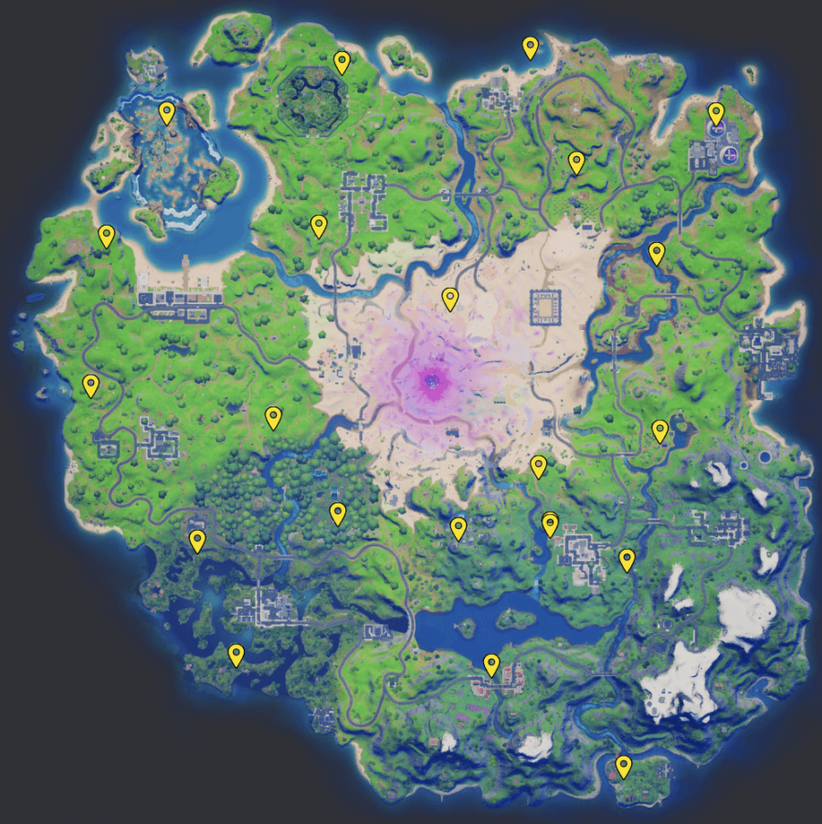 A screenshot from Fortnite showing where the IO Guards spawn