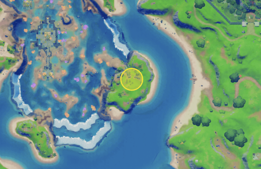 A screenshot from Fortnite showing where the Black Box is at the Crashed Plane