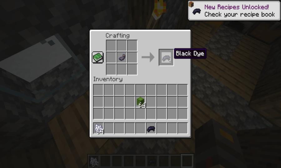 Minecraft how to make black dye