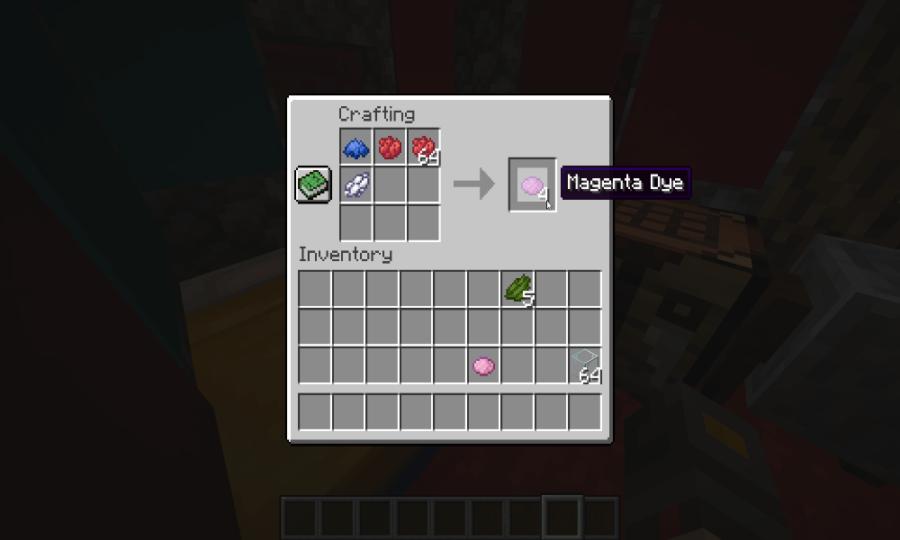 Minecraft how to make magenta dye one