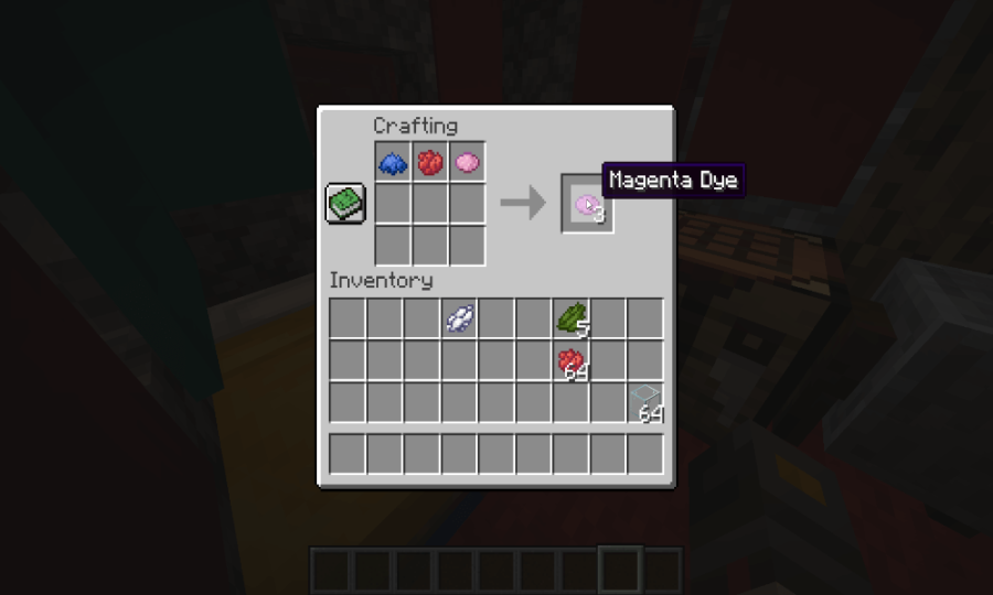 Minecraft how to make magenta dye two