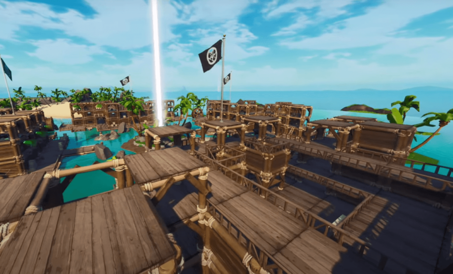A Capture the Flag Pirate Themed map in Fortnite.