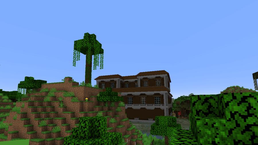A Mansion near a Modified Jungle Biome.