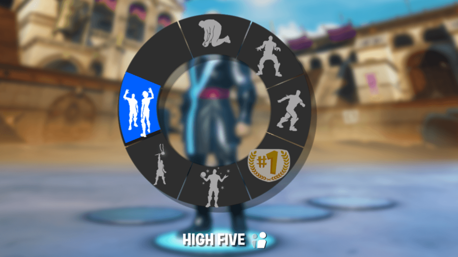 Featred image of the emote wheel in Fortnite.
