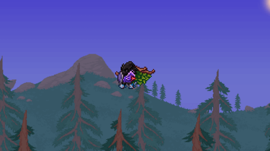 Showing off Leaf Wings in Terraria