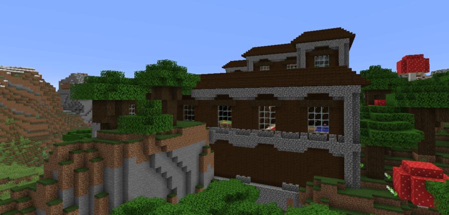 A screenshot of a Minecraft Mansion.