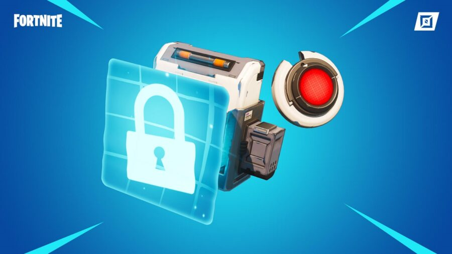 An electric lock in the Fortnite item shop.