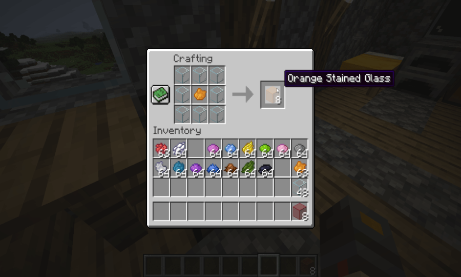 How to make Orange Stained Glass in Minecraft