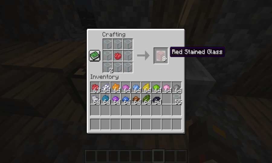 How to make Red Stained Glass in Minecraft