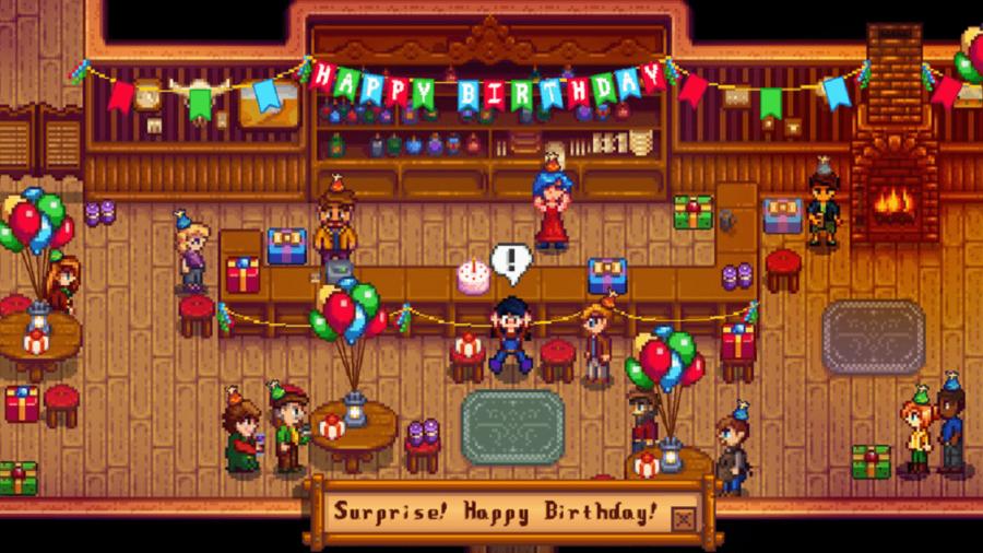 A Stardew Valley Birthday Party