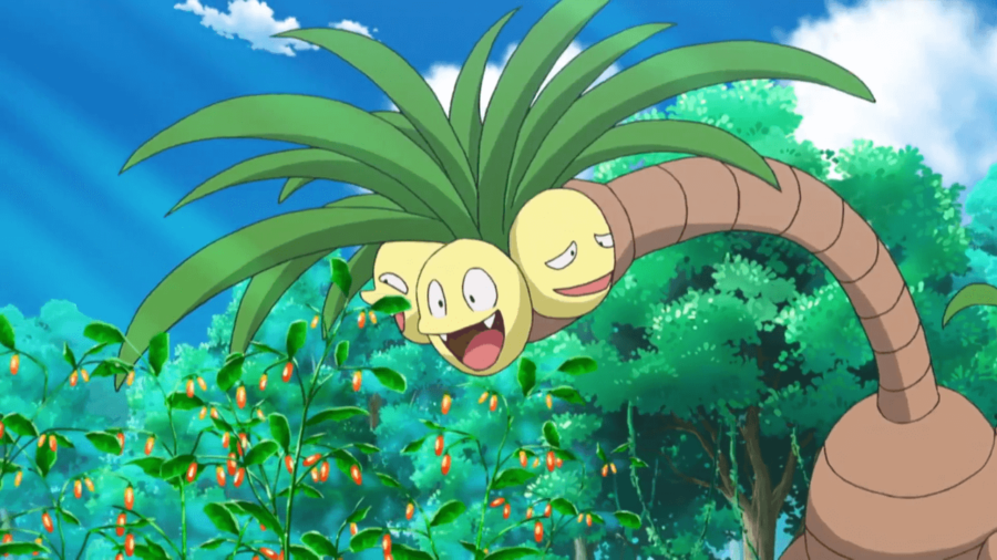 Image of Alanor Exeggutor in the Pokemon Anime.