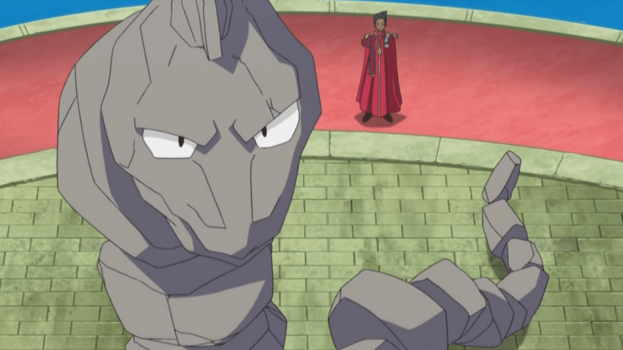 Image of Onix in Pokemon Anime.
