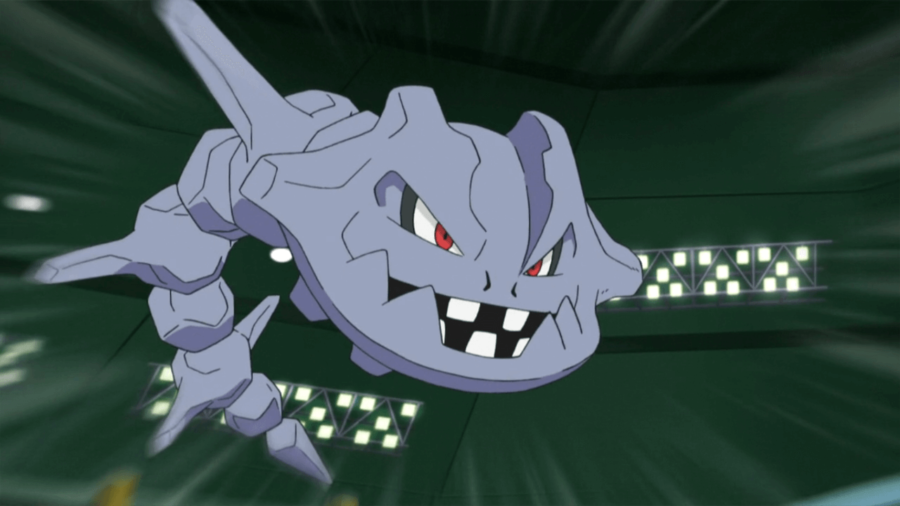 Image of Steelix in Pokemon Anime.
