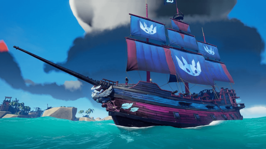 A Galleon in Sea of Thieves.