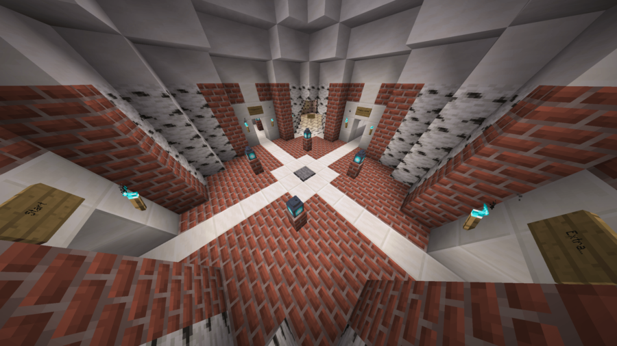 A screenshot of an advanced skyblock map.