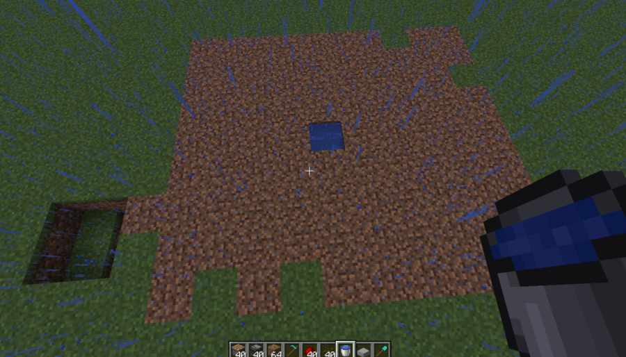 A screenshot of the water placed on the melon farm.