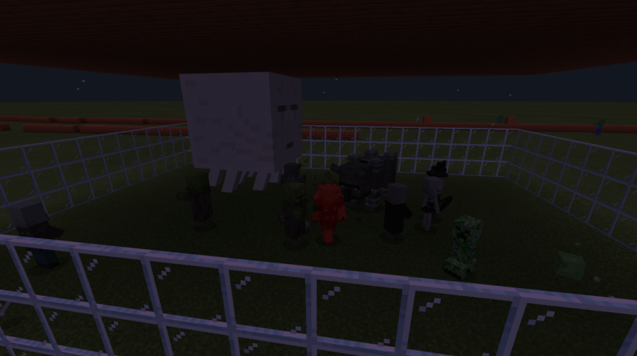 Several different Hostile Minecraft Mobs.