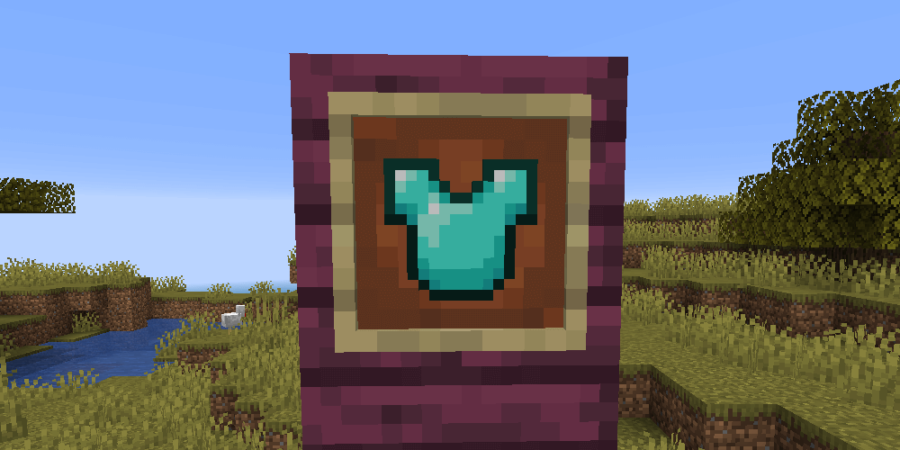 A chestplate in an Item Frame.