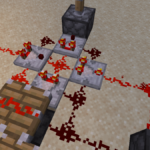 A ridiculous setup for Redstone Comparators.