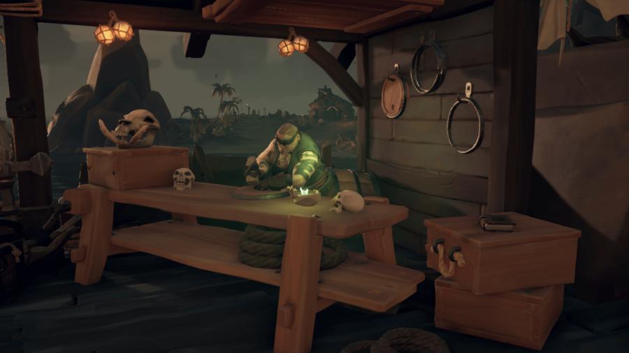 Sandra the Shipwright from Sea of Thieves.