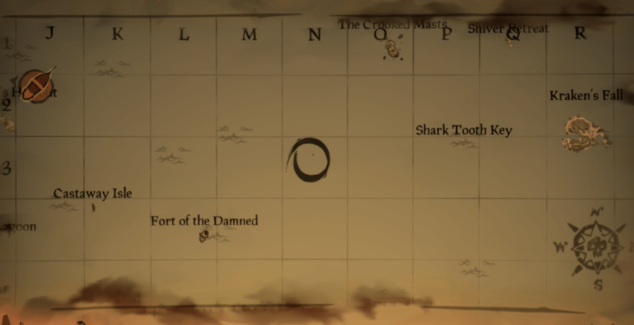 A circle in N13 Island in Sea of Thieves.