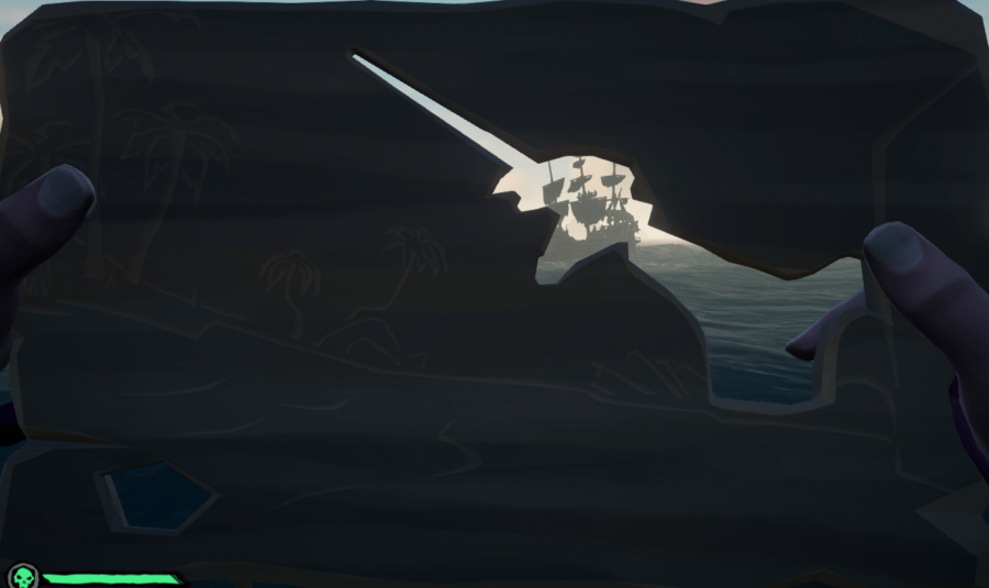 A wooden plank puzzle in Sea of Thieves.