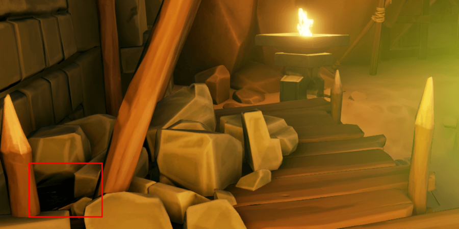 The Journal in the lair pathway in the rubble.