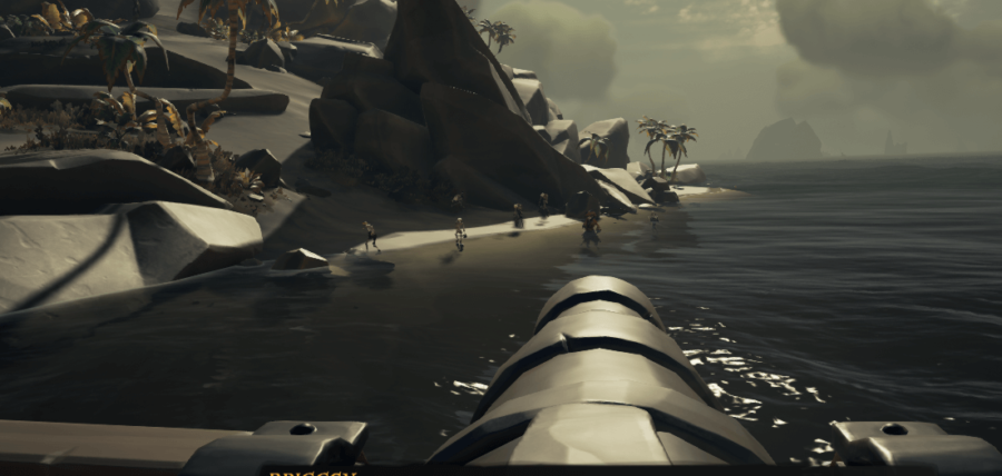Firing at Briggsy with the Ship's cannon.