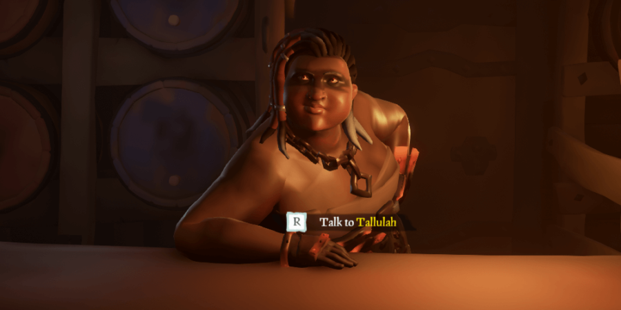 Tallulah in Sea of Thieves.