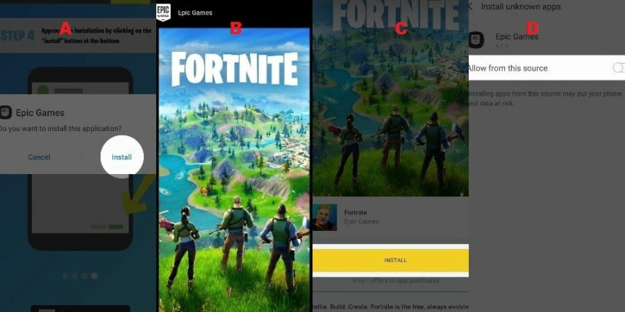 Step 3 to install Fortnite on Android.