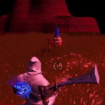A Fortnite Gnome on an ominous map.