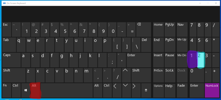 The keyboard buttons to make the § symbol.