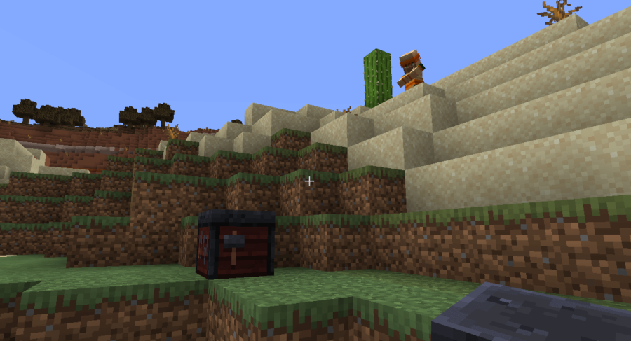 A villager looking at a workplace.