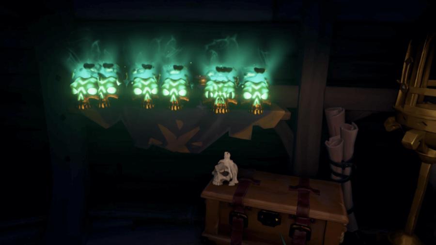 A SCreenshot of several Villainous Bounty Skulls.