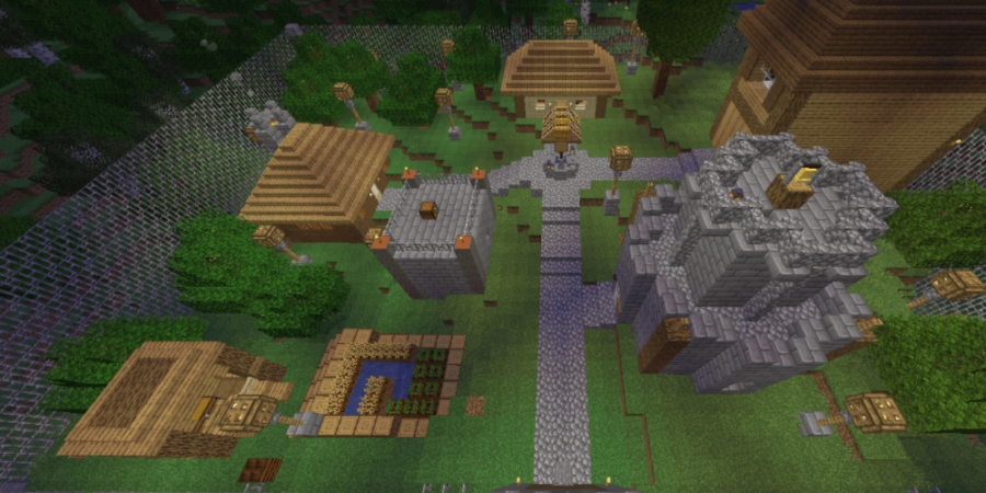 A screenshot of the Minecraft Map The Mystery of Herobrine.
