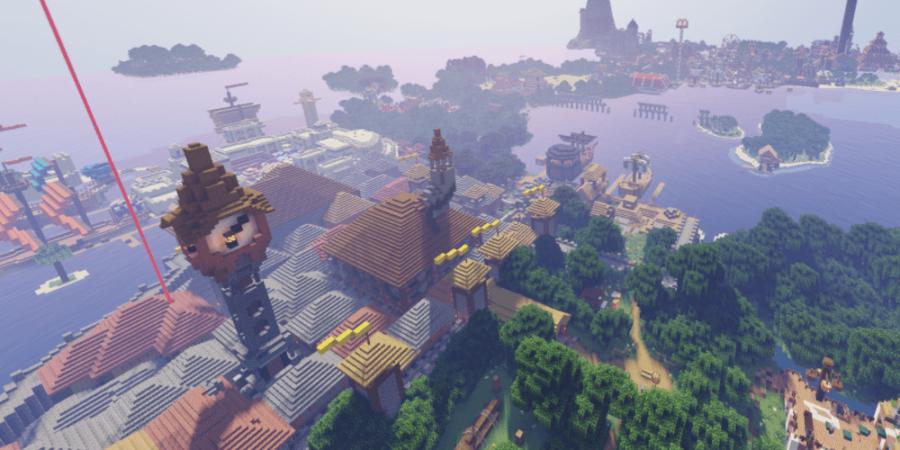 A screenshot of the Minecraft Map Devil's Deep.