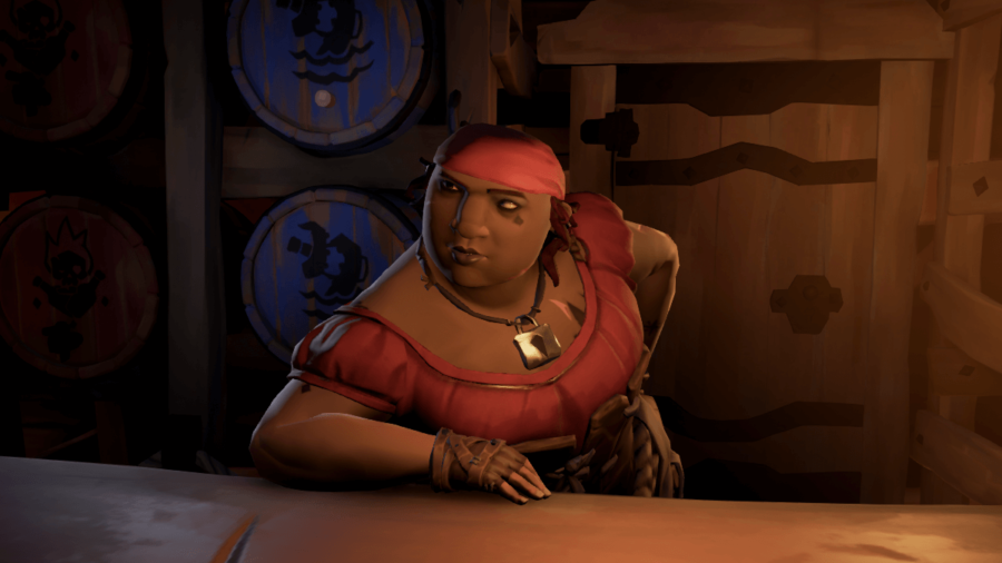 Tasha from Sea of Thieves.